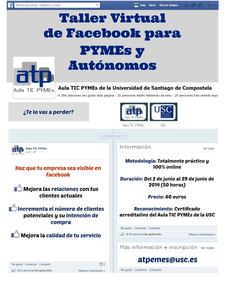 Taller Virtual de Facebook para PYMEs y Autónomos - Aula TIC PYMEs de la USC