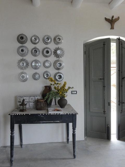 un muro della cucina siciliana