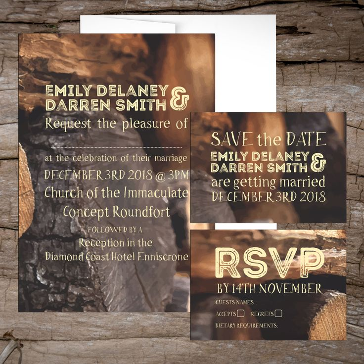 Warm Cabin Wedding InvitationsWedding Invitations to start your exciting adventure together