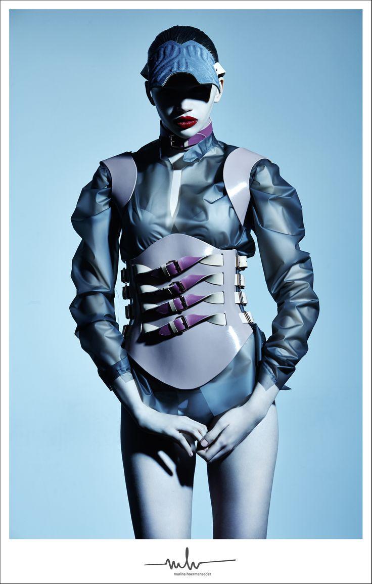 marina hoermanseder // automn / winter 2014 campaign  stefan armbruster / patrick glatthaar / stella lucia wiener models / fashion / design / berlin / vienna / london / mh / harness / leather / buckles / plastic / love