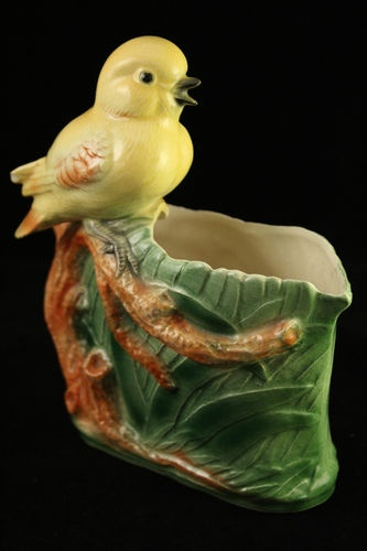 Vintage RARE Pottery Yellow Canary Bird Flower Planter McCoy Maddux Hull | eBay