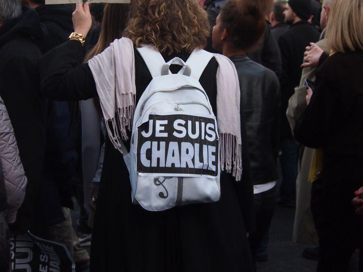#jesuischarlie #backbag #paris  pic by a.vannoorenberghe