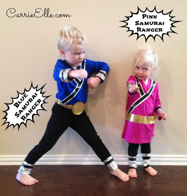 This DIY Power Rangers costume is easy, inexpensive, and lots of fun!