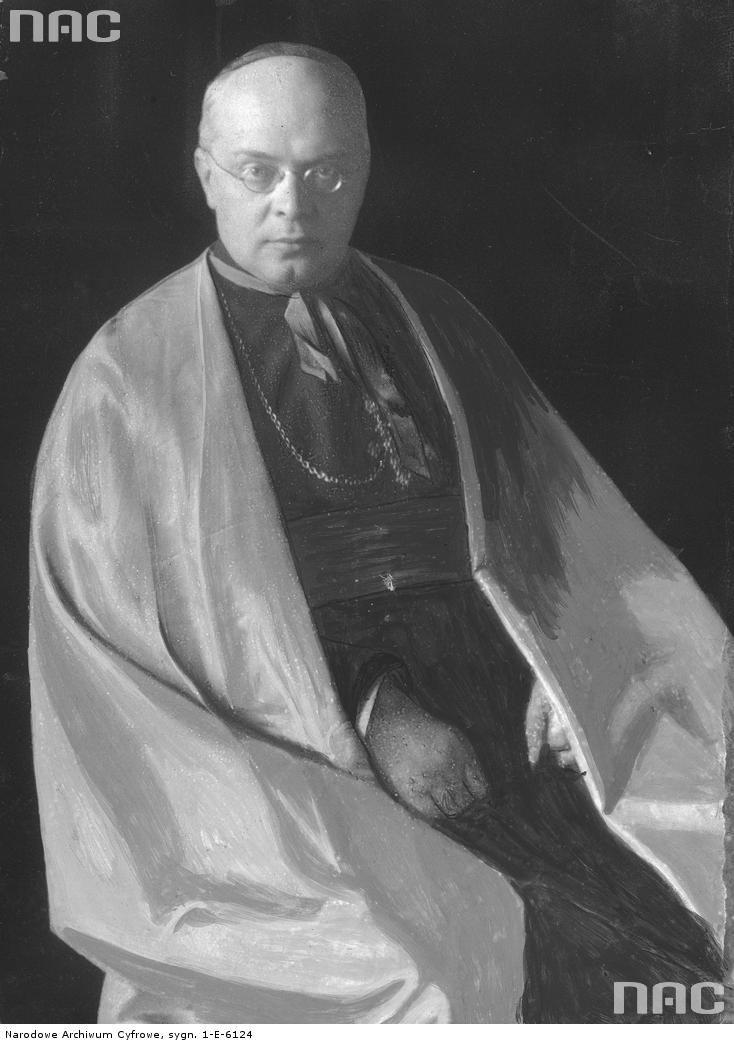 Edward Aleksander Władysław O'Rourke, biskup diecezjalny gdański- fotografia portretowa.