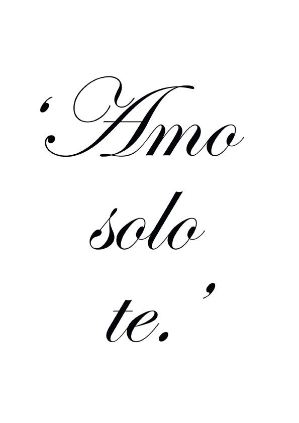 ♔ 'I love only you.'