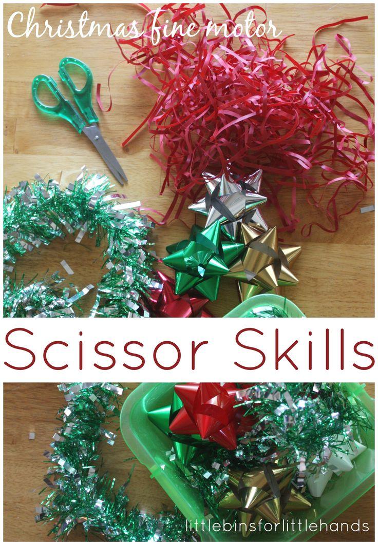 Christmas Scissor Skills Cutting Practice Fine Motor Play