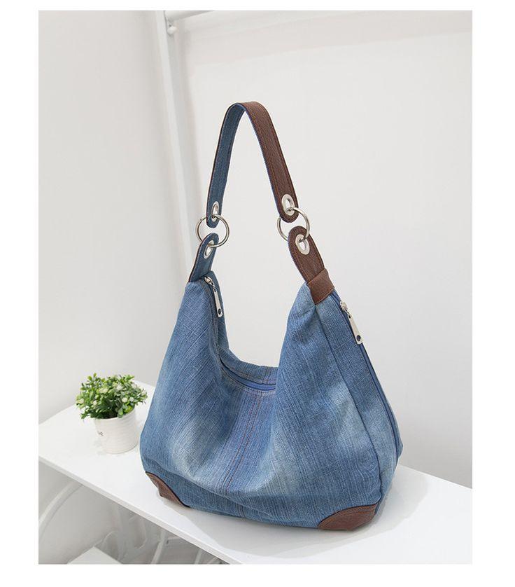 Nagy Tote táska, luxus nők nagy Hobo Táskák és kézitáskák női kéz Jean test farmer Shopping Bag Messenger Kereszt Bag Táskák Váll táskák,…