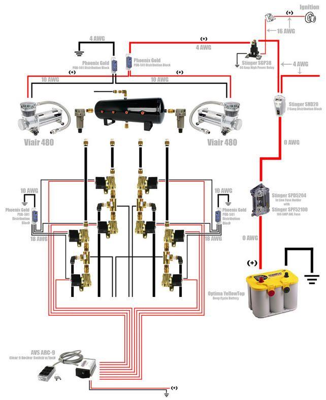 70 beautiful viair 40 amp relay wiring diagram  air ride