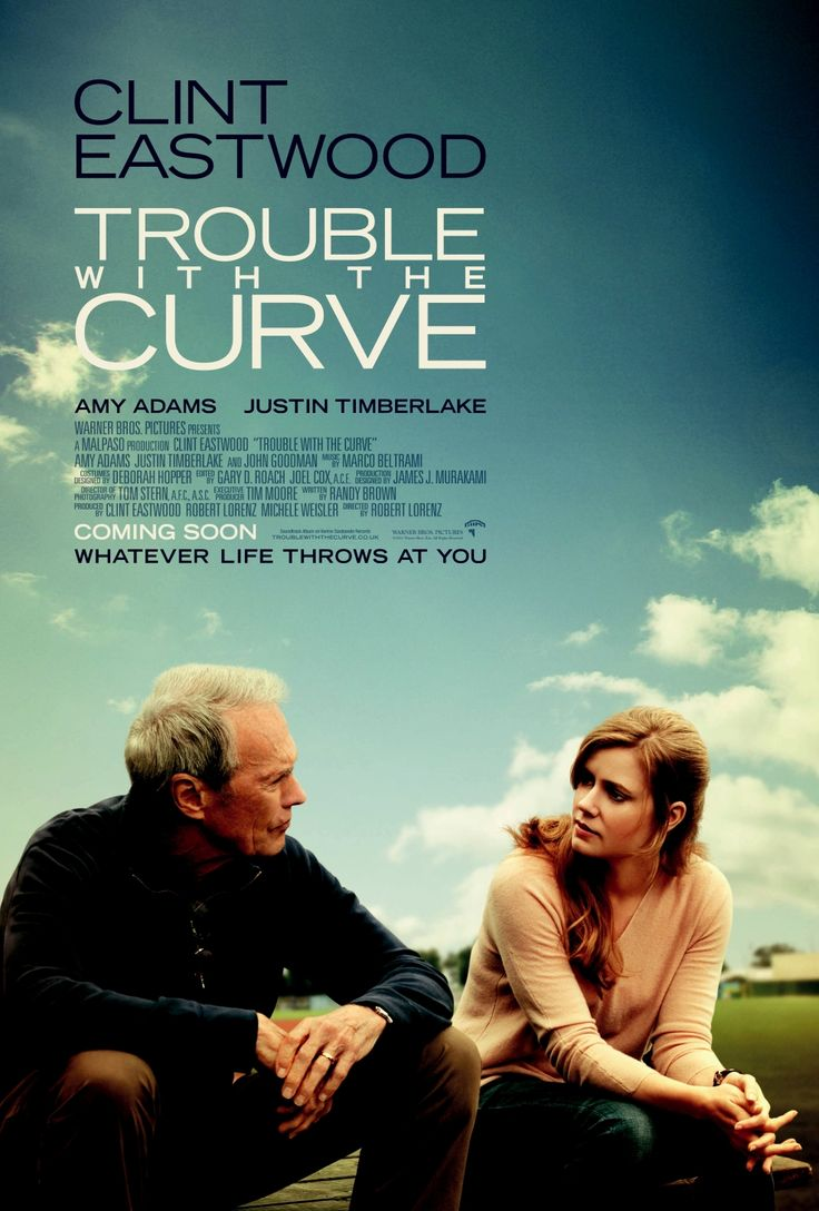 #44. Trouble With the Curve Smart Rating: 77.98 U.S. Box Office ﴾inflation‐adjusted﴿: $36,907,900 Release Year: 2012 Role: Actor  When his bosses call his judgment into question, an aged baseball scout ﴾Clint Eastwood﴿ is forced to take his estranged daughter ﴾Amy Adams﴿ with him on a road trip to North Carolina to check out a hot prospect.