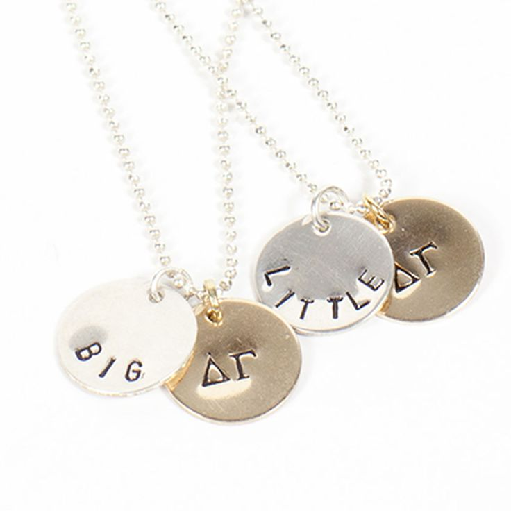 "Sorority Sisters Necklace- The perfect gift for your ""Big"" or ""Little""  http://www.dormify.com/greek/sorority-must-haves/sorority-sisters-necklace"