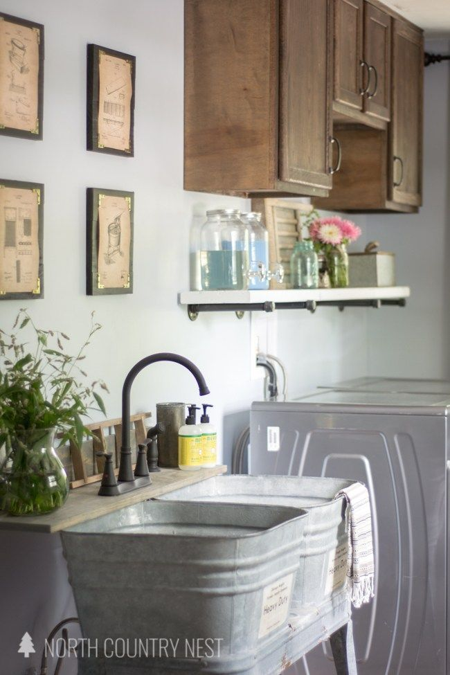 Rustic Industrial Laundry Room Reveal Laundry Room Design
