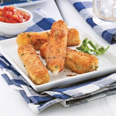 Bâtonnets de fromage - Entrées et soupes - Recettes 5-15 - Recettes express 5/15 - Pratico Pratique