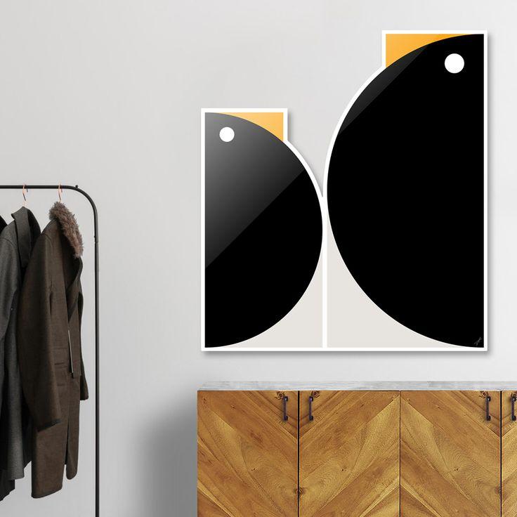 #DieCut #Aluminum #Print of #Geometric #Animals.  #Home #Decor Series by Vaggelis Arabatzoglou!  Available in a variety of #Art #Prints on #Curioos! #2dart #quadrant #geometric #design #homedecor #kidsroom #livingroom #lifestyle #abstract #graphicdesign #vectorart #illustration #contemporary #birds #penguins #minimal