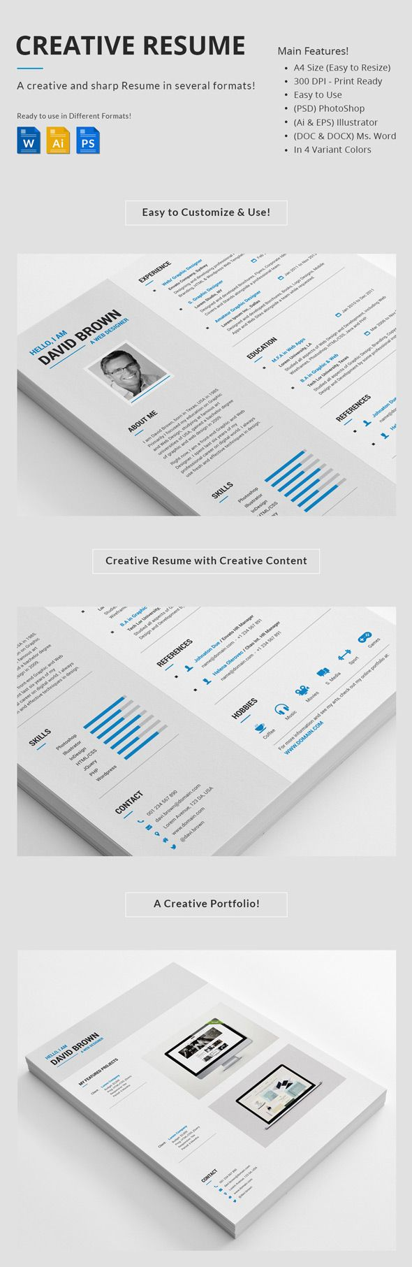 professional creative resume set - Interesting Resume Formats