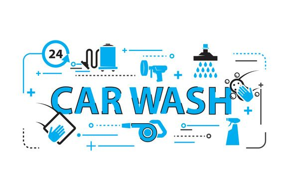 Car wash Background by iconerstock on @creativemarket