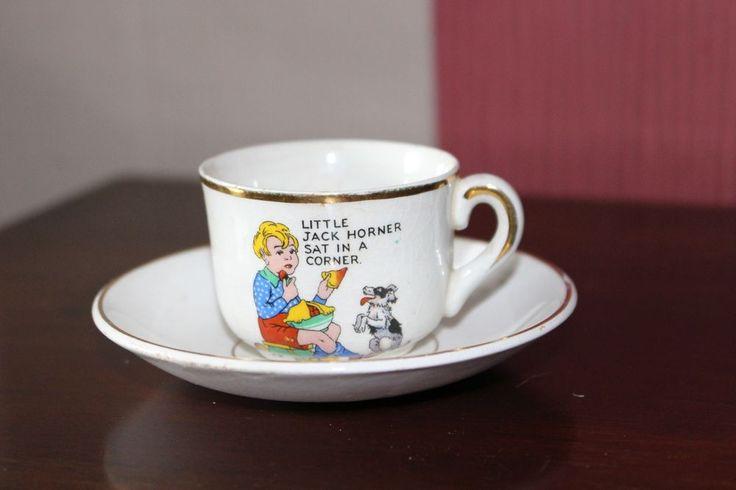 1920's NURSERY WARE CHILD'S TEA CUP & SAUCER