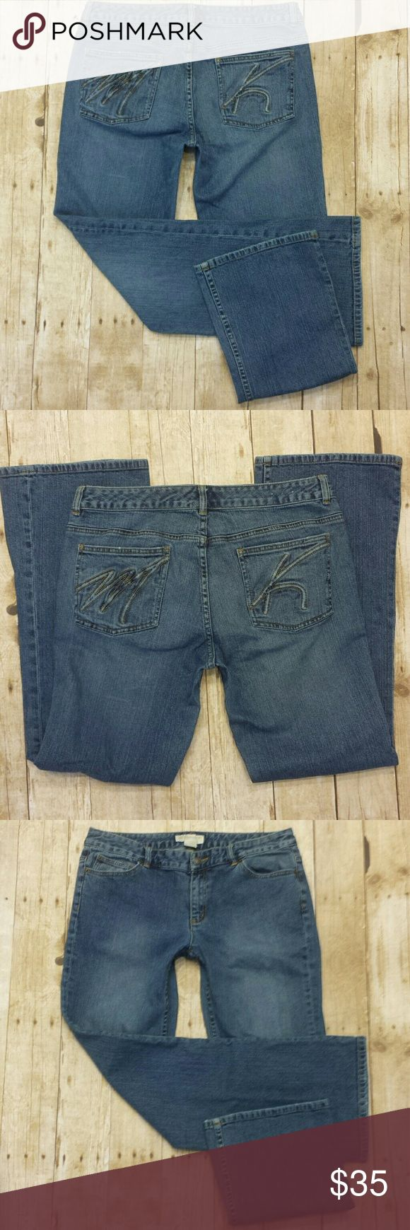 """Michael Kors Jeans Michael (Michael) Kors jeans in a medium blue wash.  Embroidered & embossed pockets with M on one and K on the other. Preowned in good condition with no rips, holes, tears or stains.  Clean original hems. Great jeans featuring a mid/high rise in both the front and the back. Hip & booty space and not narrow and low like some designer brands can be, but please use measurements below to ensure your perfect fit. 98% cotton, 2% spandex.  Measurements  Waist 17.5""""  Rise 9""""…"""
