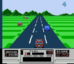 2 аркадные гонки на NES: Turbo Racing и Road Blasters топ игры сега онлайн и денди играть