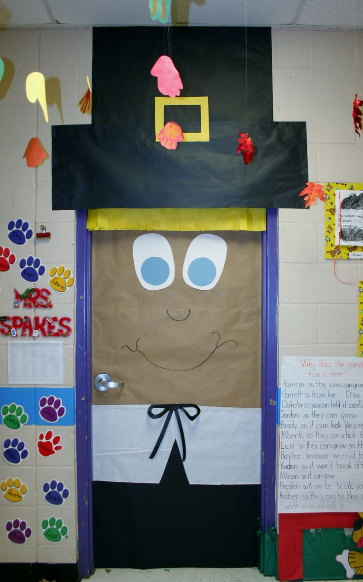 Fall decorations for classroom - Classroom Thanksgiving Door Decoration