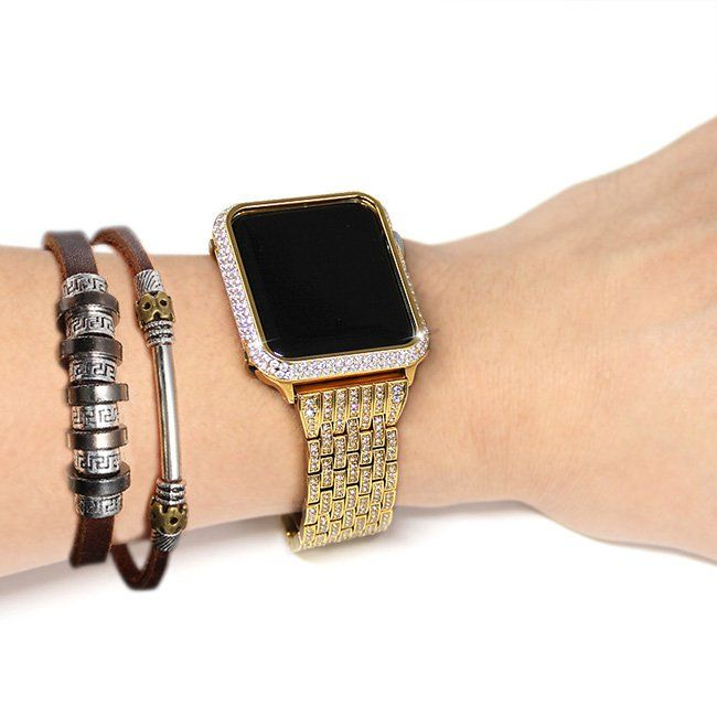 Apple Watch Protective Case 24k Gold Diamonds Bezel 38 42mm Apple Watch Apple Watch Bands 38mm Apple Watch Band