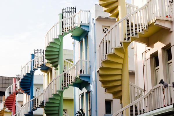Shophouses' stairs in Singapore
