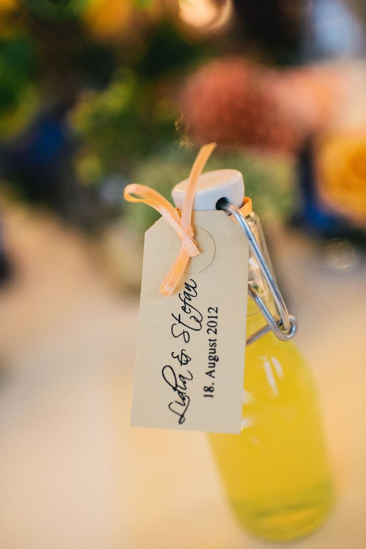 Italian wedding favor, lemoncello. Photography: Claire Morgan Photography - claire-morgan.com