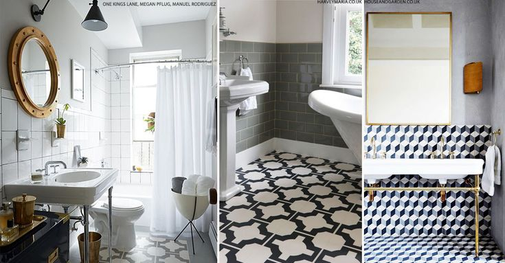Statement Bathroom Floor Tiles | sheerluxe.com