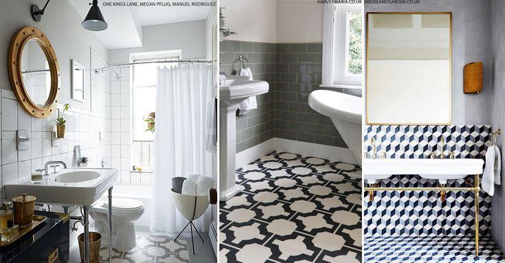 Statement Bathroom Floor Tiles | sheerluxe.com