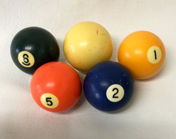 Vintage Phenolic Resin Billiard Pool Ball Set of 4 by chriscre