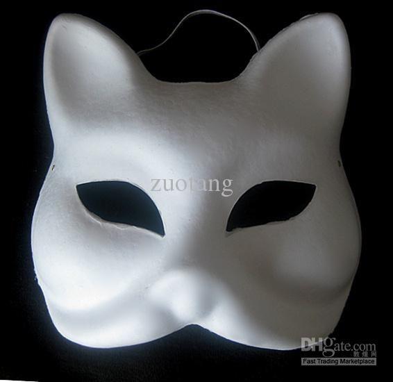 Animal Plain White Masks DIY Environmental Pulp Masks Fine Art Painting Masks Net weight 35g 10pcs/lot Free