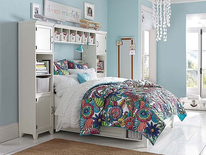 PBteen Hampton Beach Bloom Bedroom