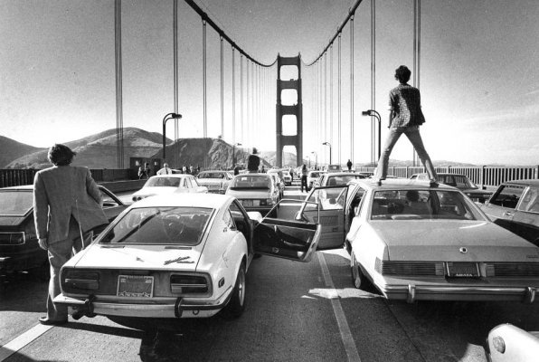 Golden Gate Bridge, circa 1980. The GGB celebrates its 75th annivesary this year.