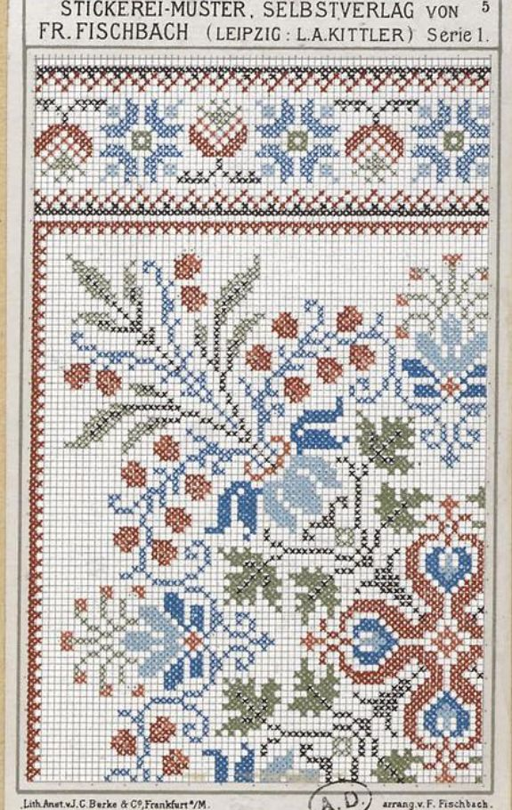 Frederich Fischbach was a noted 19th-century designer - would love to do the entire design in one color