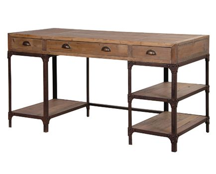 Rustic Pine Desk available from Browsers Furniture Co., Limerick, Ireland. www.browsers.ie.