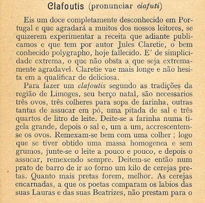 As Receitas da Avó Helena e da Avó Eduarda: Clafoutis