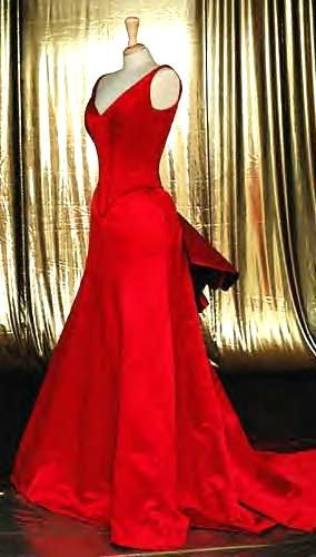Satine red dress, Movie Moulin Rouge
