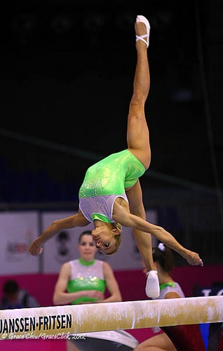 Vasiliki Millousi of Greece - podium training at the 2012 European Gymnastics Championships