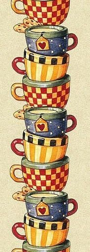 cups | illustration | #coffee #tea