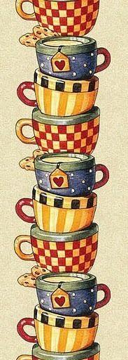 cups | illustration | #coffee #tea