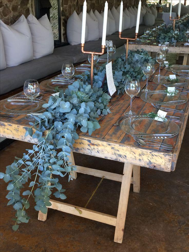 Eucalyptus table runners