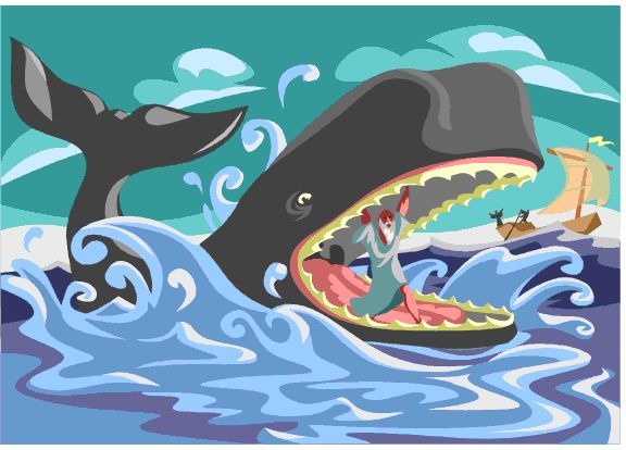 Image result for jonah and the whale picture