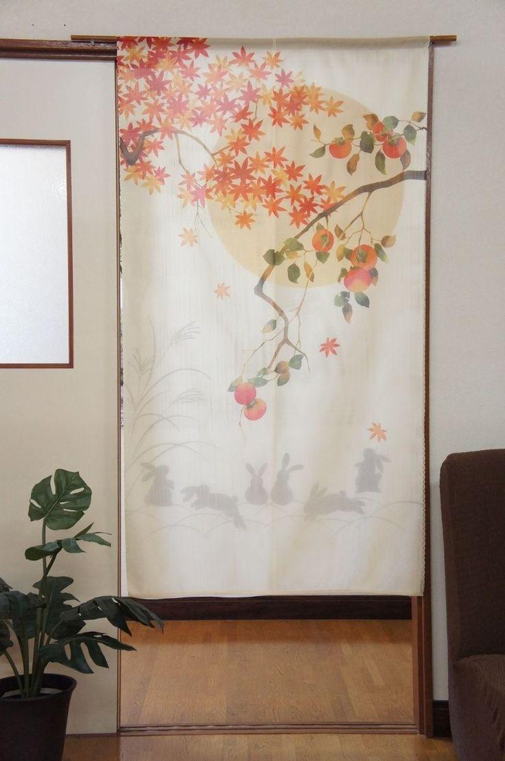 Home Decoration Autrefois Rideaux - Traditionnel usagi 2 cotes japanese noren japonais rideaux fabriqu au japon in maison rideaux