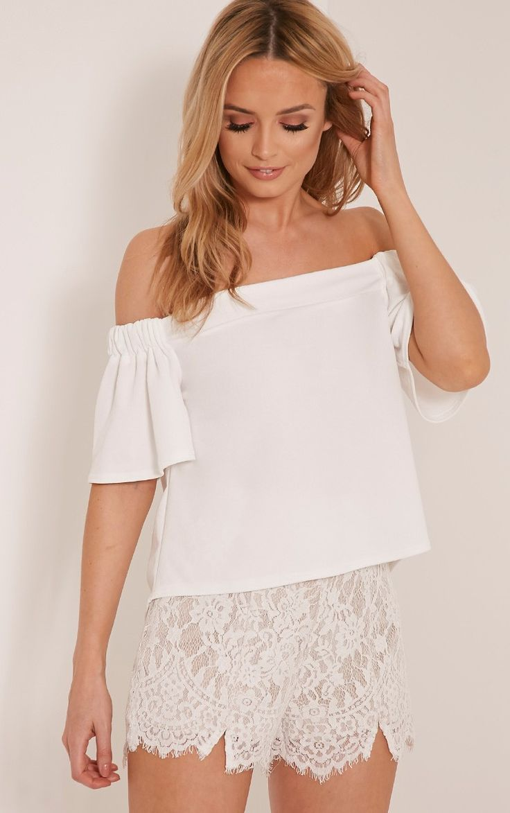 Alka Cream Bardot Top