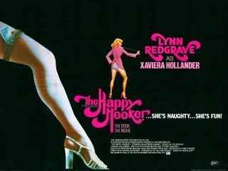 The Happy Hooker (1975)   Lynn Redgrave * Jean-Pierre Aumont * Lovelady Powell * Tom Poston * Nicholas Pryor    Here for the sheer seventiesness of it...her book caused quite a stir but this adaption of Xaviera Hollander's memoirs is pretty tame by all accounts. I dimly remember the talk shows getting all excited about her trick dress which had a pull cord to flash her knickers. Pretty tame underwear too by today's standards...