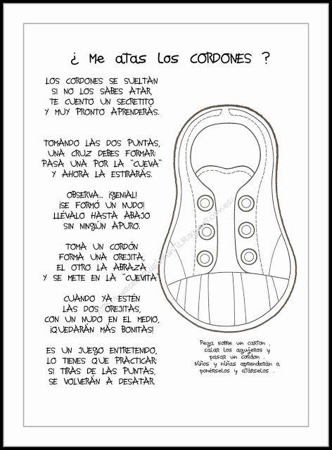Menta Más Chocolate - RECURSOS PARA EDUCACIÓN INFANTIL: Poesia ¿Me atas los CORDONES?