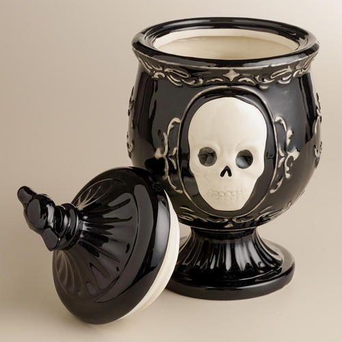 Black Skull Apothecary Treat Jar