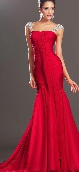 Modelos de vestidos de noche rojos