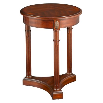 Find it at bombaycompany.com  - Athena End Table - Antique Cherry