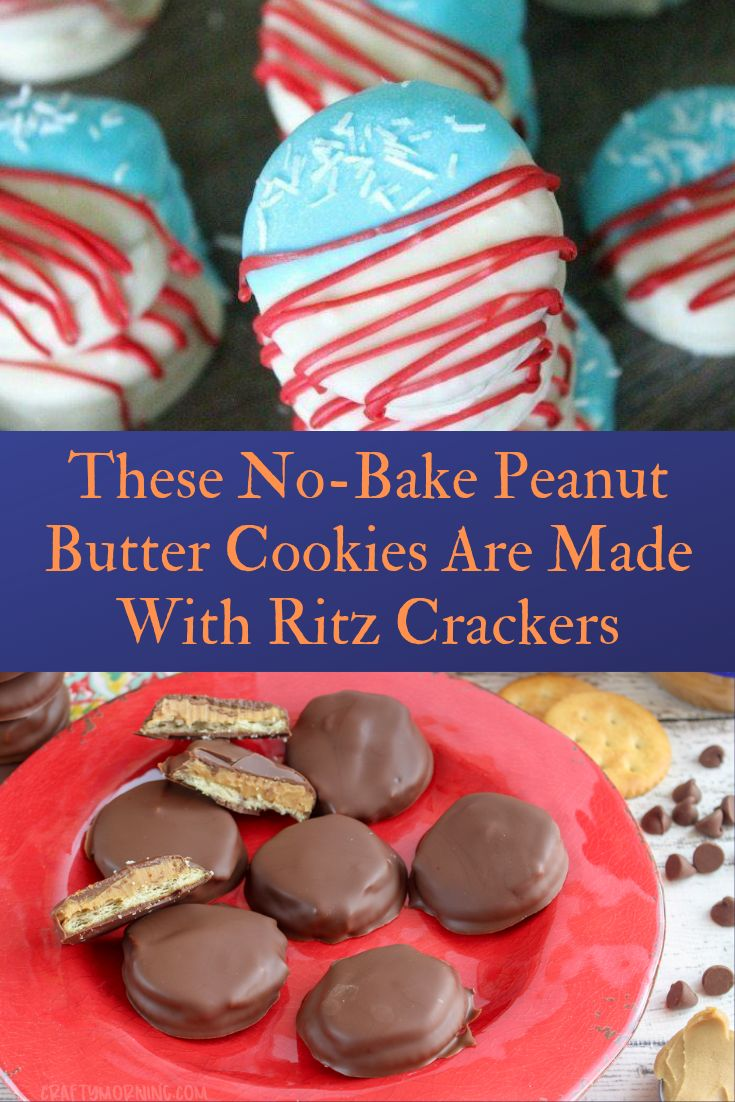 These No-Bake Peanut Butter Cookies Are Made With Ritz Crackers