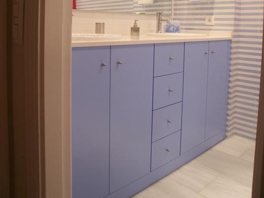Bajo lavabo acabado lacado color a il diaco fabrica todo - Baldas para bajo lavabo ...